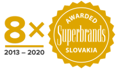 8x awarded Superbrands Slovakia